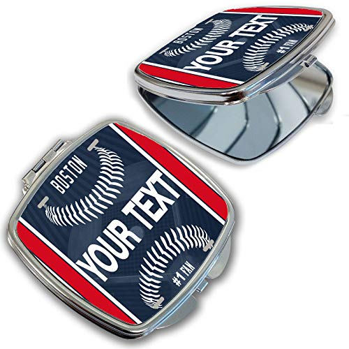 - BRGiftShop Customize Your Own Baseball Team Boston Compact Pocket Cosmetic Mirror