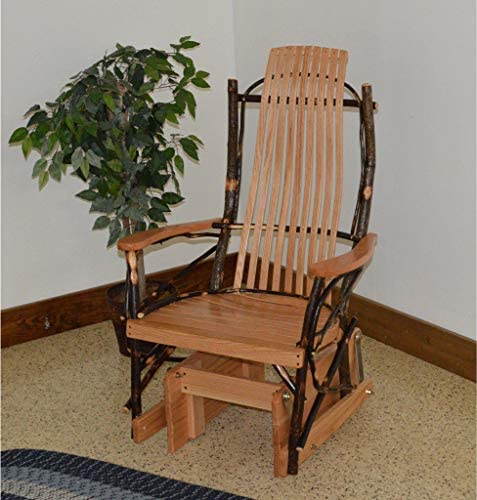 A L Furniture Co. Amish Bentwood Hickory Glider Rocker