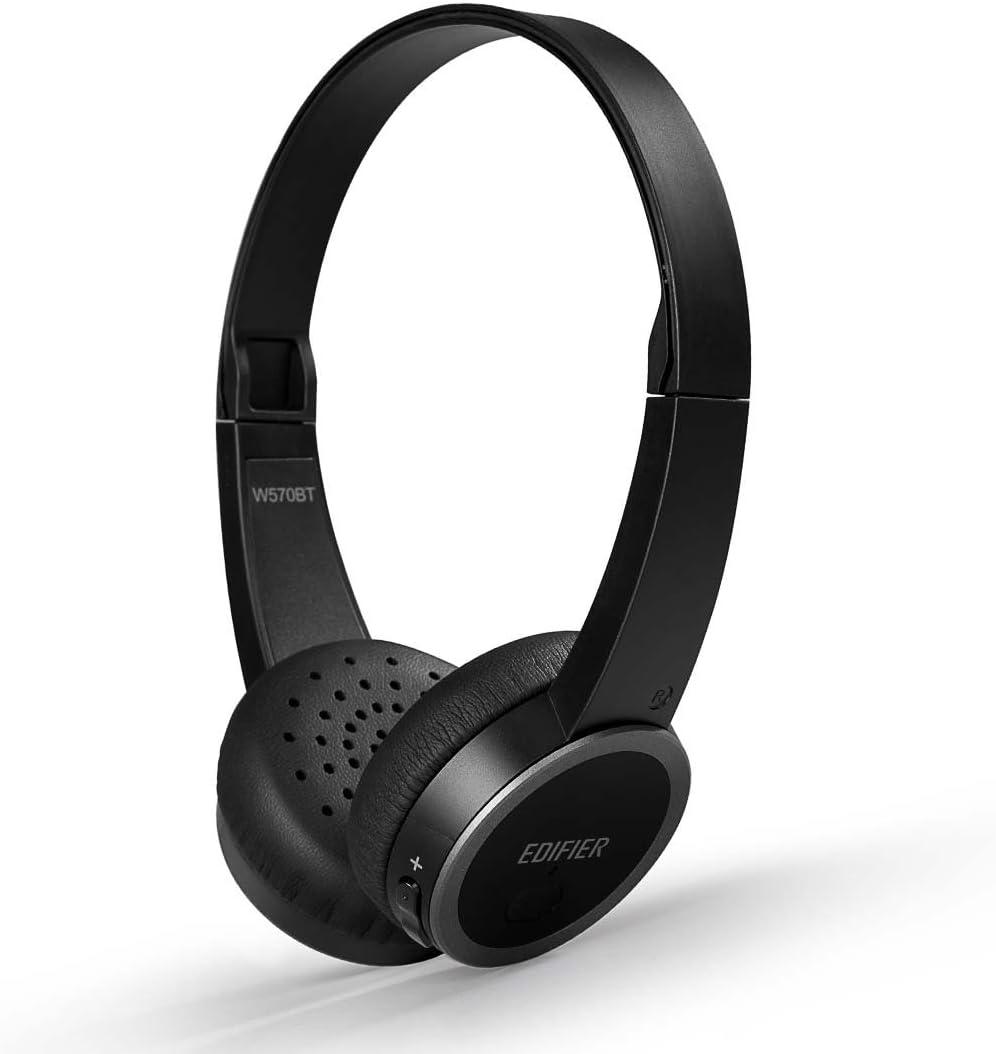 Edifier W570BT Bluetooth On Ear Headphones Lightweight Wireless Headset (Black)
