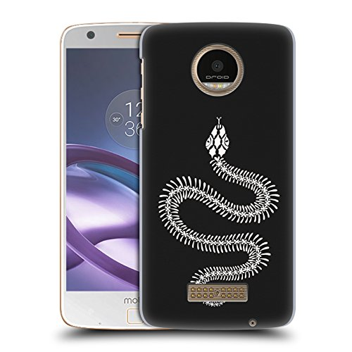 Snake Ombre (Official Cat Coquillette White Ombre Snake Skeleton Animals Hard Back Case for Moto Z Force / Z Force Droid)
