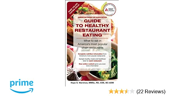 American Diabetes Association Guide To Healthy Restaurant