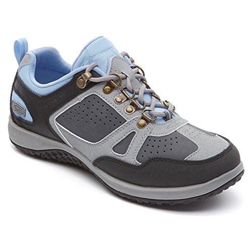 Rockport Donna Walk360 Escursionista Basse Scarpe Da Passeggio Nere / Castlerock