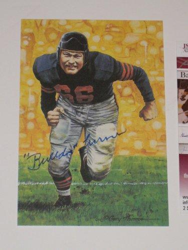 Clyde Bulldog Turner Chicago Bears Autographed Goal Line Art Card #0096/5000 (JSA COA)