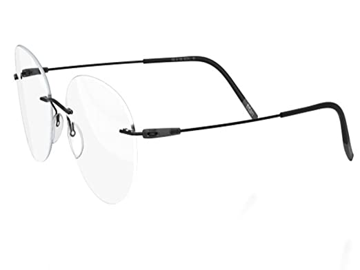 1321f37b22 Silhouette Eyeglasses DYNAMICS Colorwave 5500 with DEMO lens (black slate  51mm-19mm-