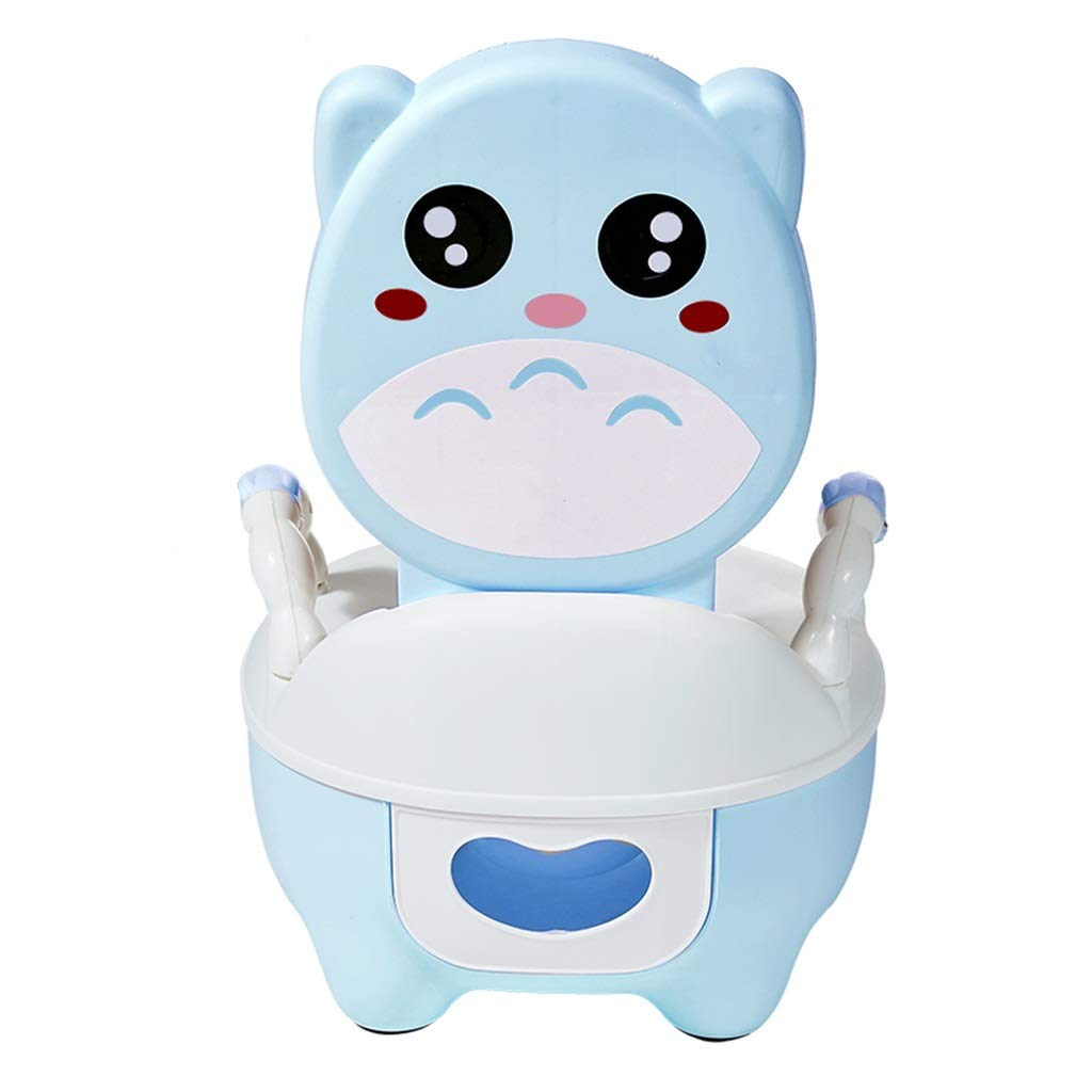 XWJC Children's Toilet Toilet Men and Women Baby Baby Potty Urinal Drawer Type Large Toilet PU Cushion (Color : Blue)
