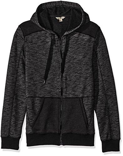 Jeans Hoodies - Calvin Klein Jeans Men's Cross Dye French Terry Full Zip Hoodie Sweatshirt, Black, X-LARGE