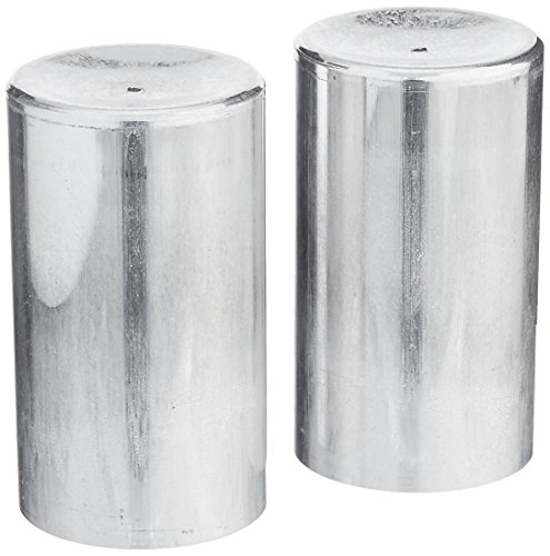 Candlewic 2Pk of 2 X 3.5 Inch Round Aluminum One Piece Candle Molds (Mold Candle Pillar)