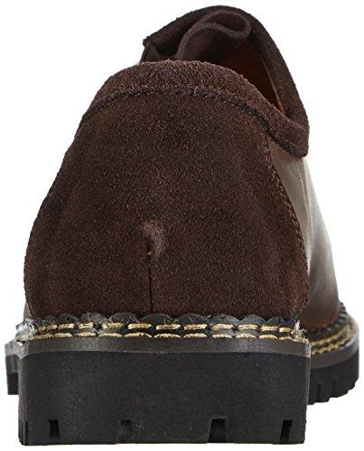 Wolpertinger W07015-1 - Zapatos tradicionales bávaros unisex Marrón (Braun (dark brown crazy horse))