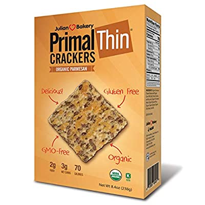 Primal Thin Crackers (Parmesan)(Organic)(Low Carb, Gluten Free, Grain Free) (8.4oz)