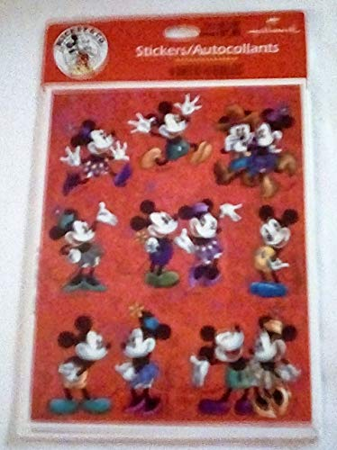 Disney Hallmark Mickey and Minnie Mouse Package 4 Sheets Stickers - NIP ()