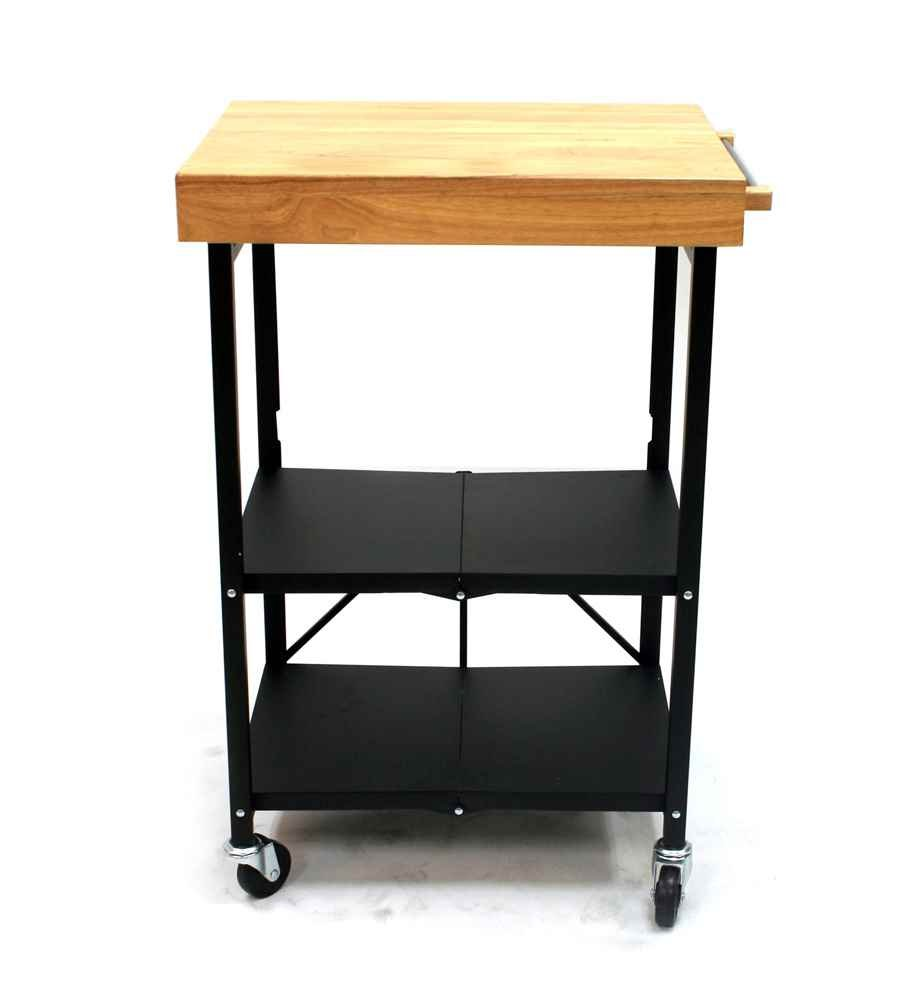 Amazon.com: Origami Foldable Kitchen Island Cart, Black: Home Improvement