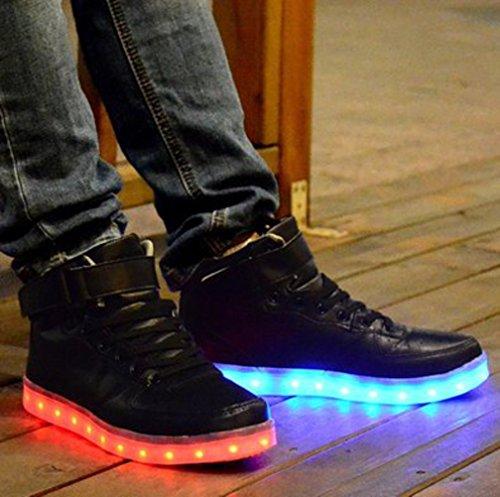Mujeres Presente a Carga de Light 7 LED Negro Luminosos Unisex Flashing Deportivos USB junglest Colores Zapatos Glow Up Hombres Peque Toalla Luz Sneakers YSAWwqd