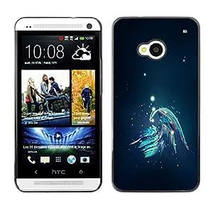 TopCaseStore / la caja del caucho duro de la cubierta de protección de la piel - Abstract Galaxy - HTC One M7
