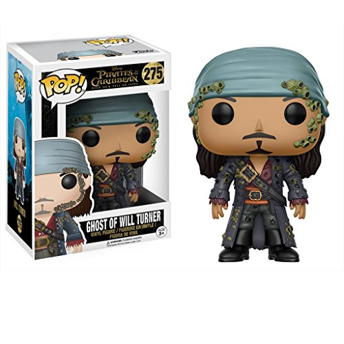 Funko Ghost of Will Turner: Pirates of The Caribbean - Dead Men Tell No Tales x POP! Disney Vinyl Figure & 1 POP! Compatible PET Plastic Graphical Protector Bundle [#275 / 12806 - B]