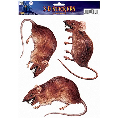 Rat 3D Cling Halloween Decoration