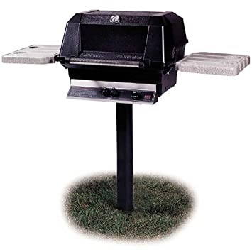 Mhp Gas Grills Wnk4 Natural Gas Grill W Searmagic Grids On In-ground Post