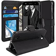 LG Fiesta LTE Case, LG X Charge Case, LG X Power 2 Case, TAURI [Stand Feature] Wallet [PU Leather] Protective Case Flip Cover For LG Fiesta LTE / LG X Charge / LG X Power 2 - Black