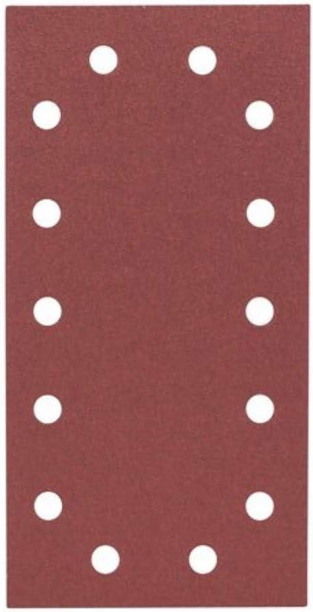 Silverline 945689 10 feuilles auto-agrippantes perfor/ées 115 x 230 mm Grain 120