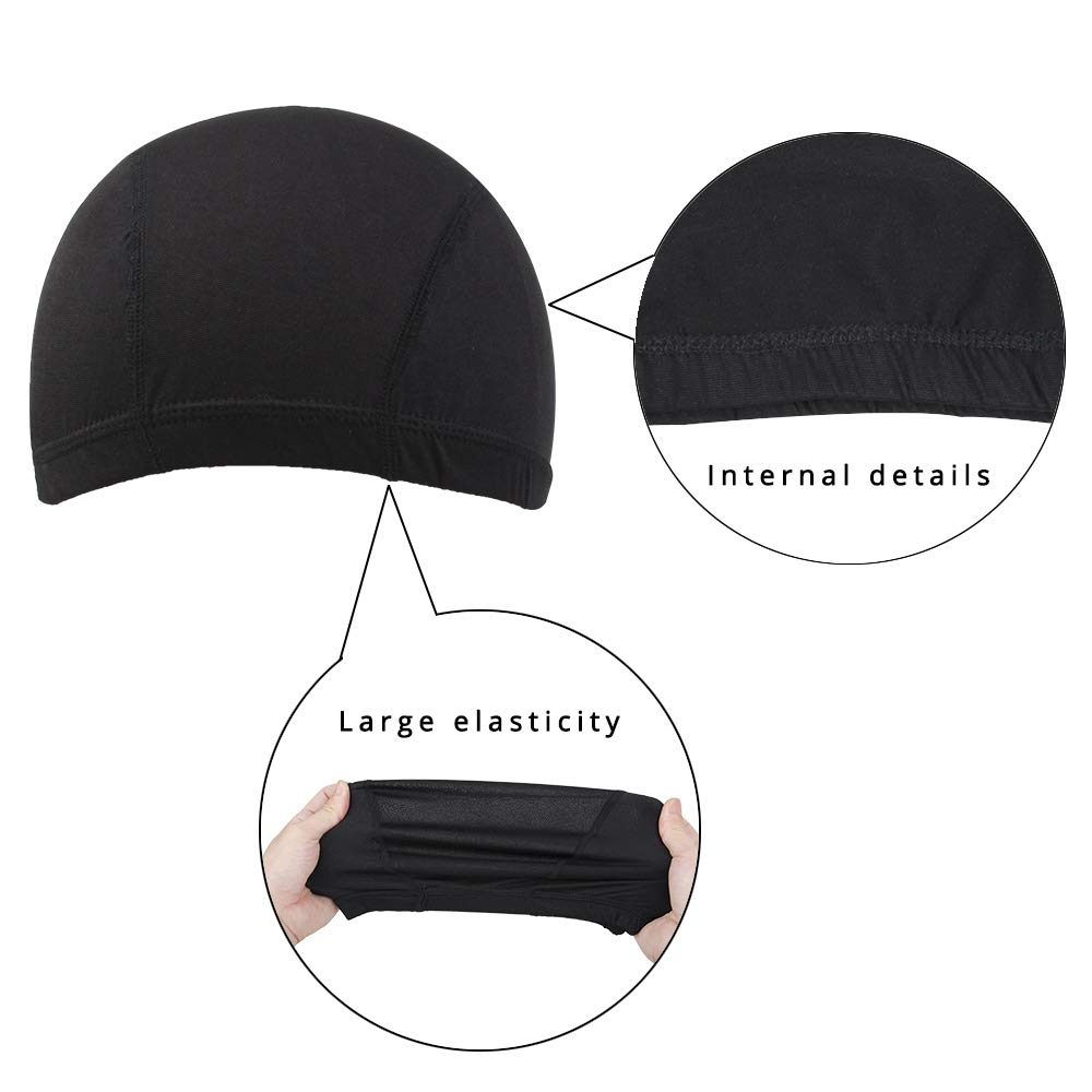 Dome Caps For Wigs 12 Pcs Stretchable Wigs Cap Spandex Dome Wig Caps For Men Women by YOUNIQUE (Image #3)