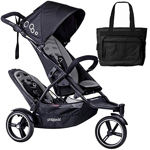 Phil Teds Dot Double Stroller with Second Seat With Diape...