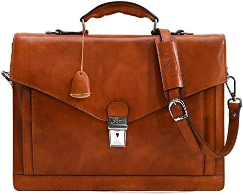 Floto Ponza Grain Leather Briefcase product image