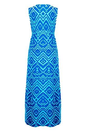 G2 Chic Women's Summer Tribal Printed Maxi Dress(DRS-MAX,BLUA5-L)