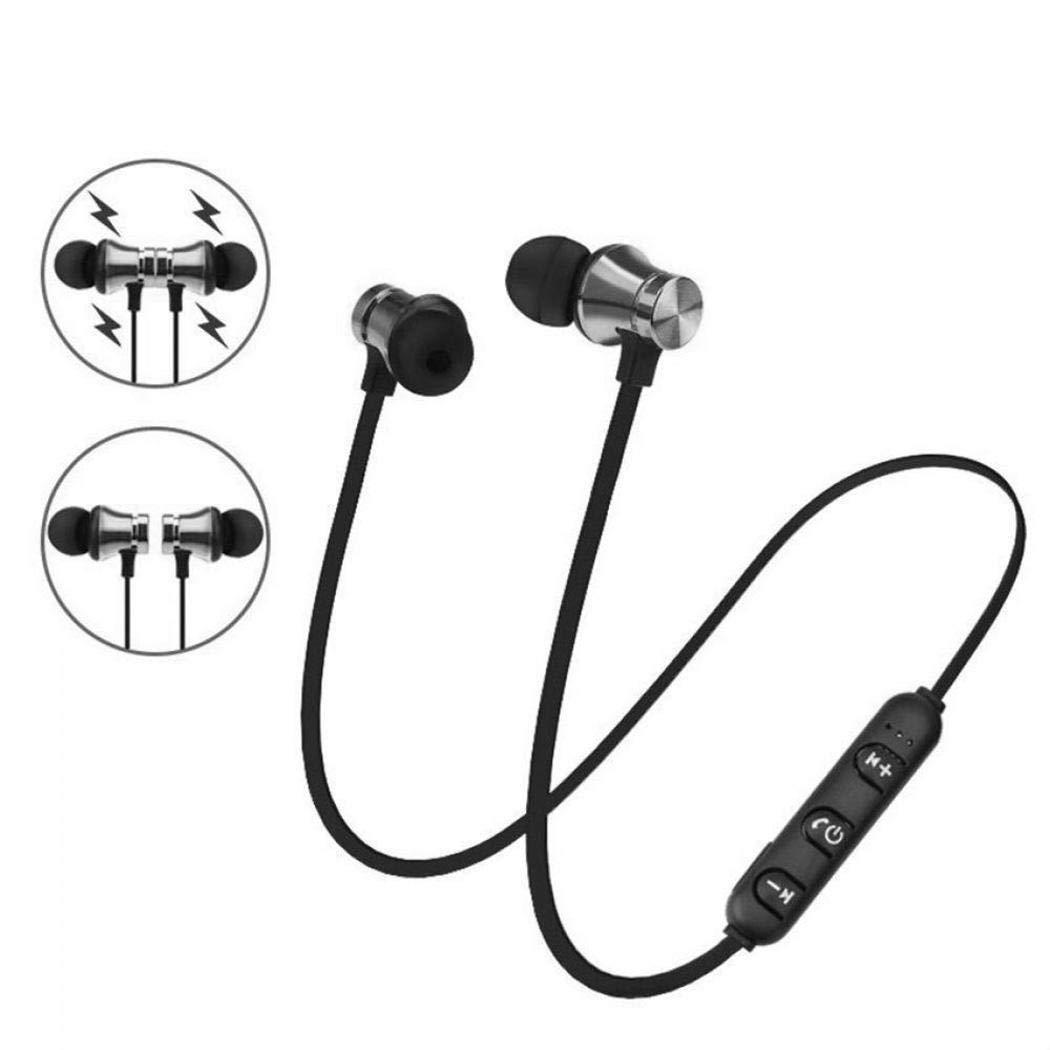 Wekold Auriculares magnéticos Bluetooth 4.1 Auriculares estéreo ...