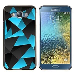 Planetar® ( Polígono Azul Gris Líneas Patrón de carbono ) Samsung Galaxy E7 E700 Fundas Cover Cubre Hard Case Cover