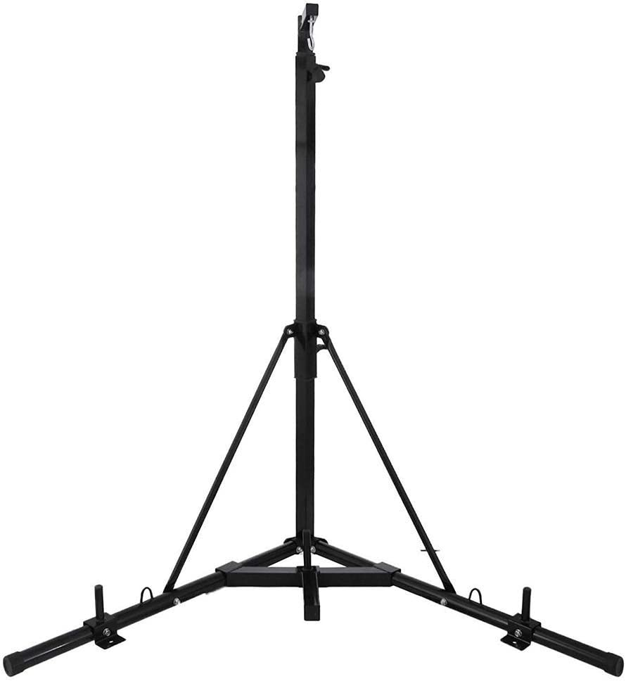 Weanas Folding Heavy Bag Stand Portable 330LB Sandbag Rack Free Standing Heavy Duty Punching Bag Boxing Stand Height Adjustable for Home Fitness