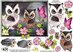 diseño de búhos Delight diseño de Karen Wyeth