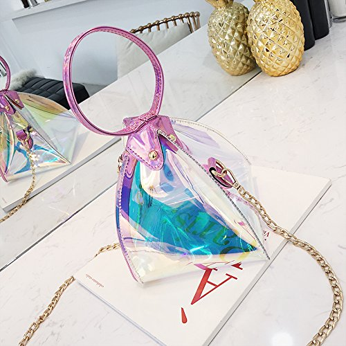 sac chaîne diagonale triangle Mesdames épaule sac sauvage main sac lanterne à transparent chic gqzxO7