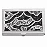 Best Designer Jewelry Black and White Swarovski Crystal Business Card Case