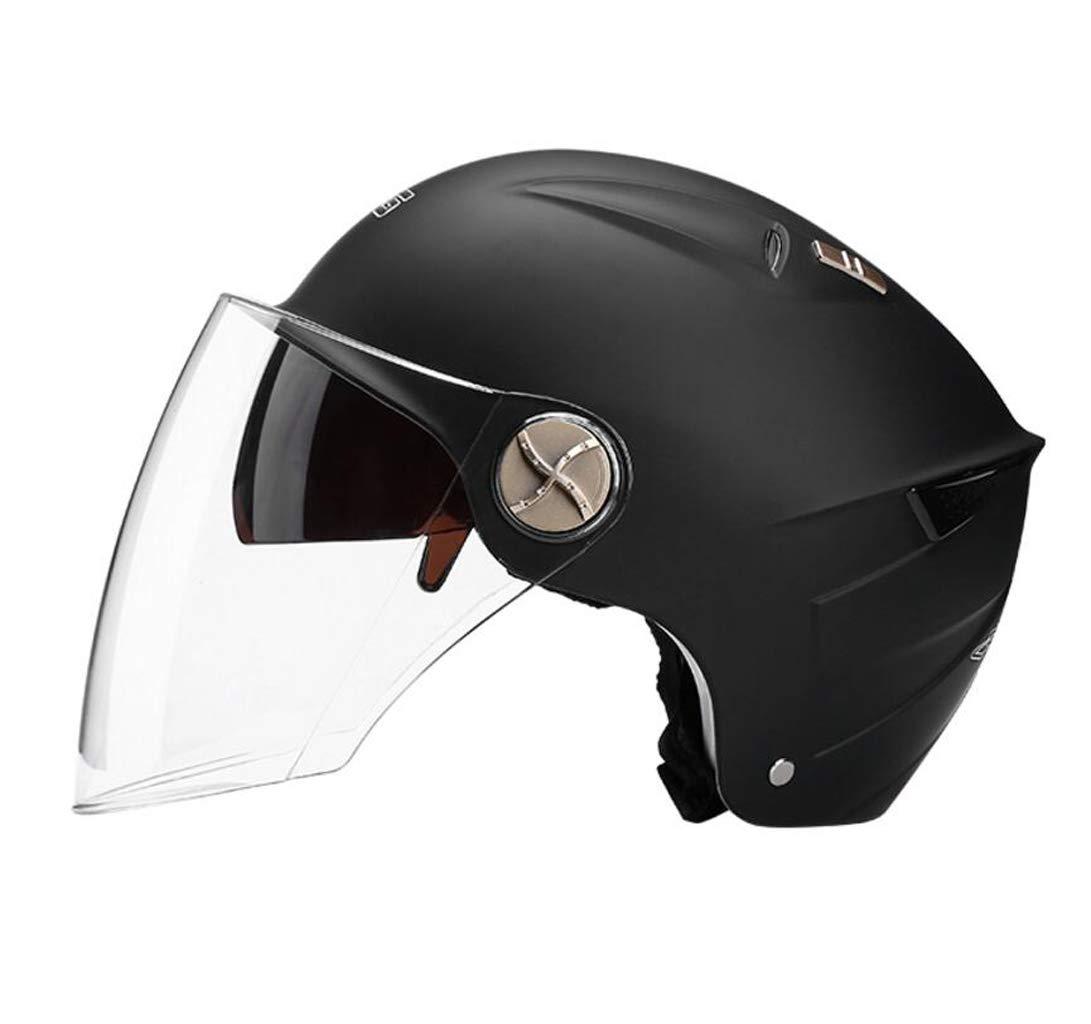 Sub black 56cm-62cm Motorcycle Helmet Men and Women Winter Warm Seasons Universal Lightweight Helmets Detachable Bib (color   Yellow, Size   56cm-62cm)