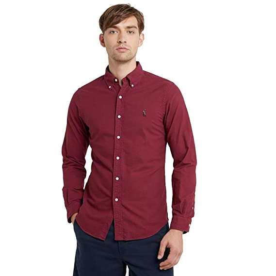 Ralph Lauren Camisa Oxford Slim Fit: Amazon.es: Ropa y accesorios