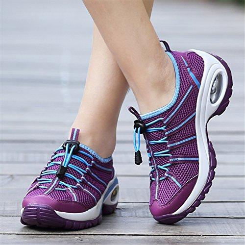 HUAN Chaussures Randonnée Air Hauteur Augmenter Décontractées en Air de Chaussures Chaussures Épais New A Coussin Plein Femmes Bottom Chaussures gq0rSR6g
