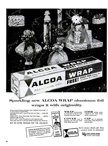 original-print-ad-1956-alcoa-aluminum-foil-sparkling-new-vintage-large-non-color-ad-usa-nice-