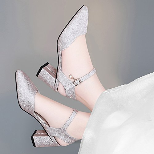 Heels Shoes Women'S Pink Coarse With New Style heels Pointed High Fashion Spring Summer And Jqdyl Shoes zF7wBn