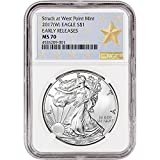 #4: 2017 (W) American Silver Eagle (1 oz) Early Releases WP Star Label $1 MS70 NGC