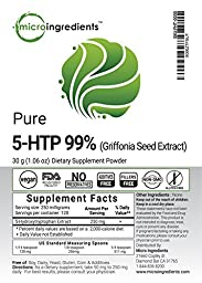 Micro Ingredients Pure 5-HTP (Griffonia Seed Extract) Powder - Support Positive Mood (60 grams / 2.12 oz)