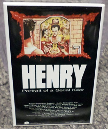 (Henry Portrait of Serial Killer Movie Poster 2 x 3 Refrigerator Locker MAGNET)