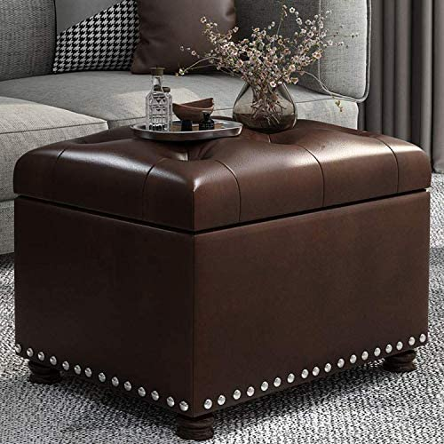 Reviewed: Decent Home Leather Storage Ottoman Foot Rest Stool