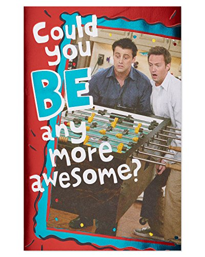 American Greetings Funny Friends Joey and Chandler Pop-Up Birthday Card with Foil