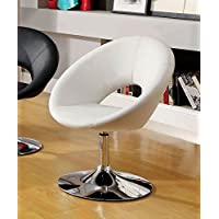 247SHOPATHOME IDF-AC6915WH Living-Room-Chairs, White