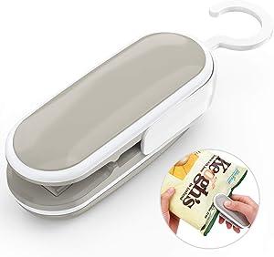 Mini Bag Sealer, Heat Sealer, 2 in 1 Heat Sealer and Cutter Handheld Portable Bag Resealer for Plastic Bags Food Storage Snack Bag (Battery Not Included)