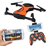 Quadcopter drone, Kingtoys Foldable RC Drone with APP Voice Control Flight Aerial Control, 1M HD Wi-Fi Camera with 2pcs 600mAh Batteries