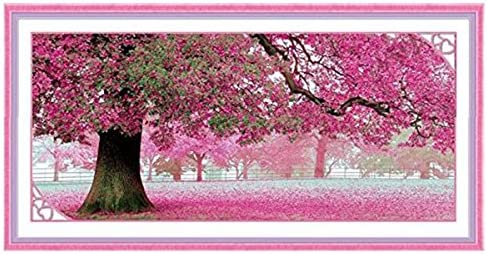 New Counted Cross Stitch Embroidery Kit In Sakura Flowers by Oven