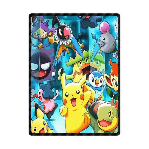 scottshop personalizado alta calidad manta 58 x 80 pulgadas, diseño Anime Pokemon Pikachu mantas mantas