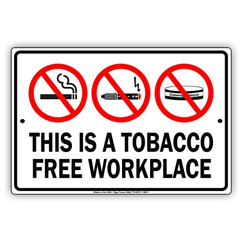 This is a Tobacco Free Workplace Aluminum Metal Sign Business Sign Boards Primium Quality Solid Material Display Signboard 8
