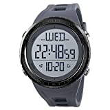 Men's Digital Sports Watch Large Numbers Waterproof Stopwatch Countdown LED Military Wristwatches