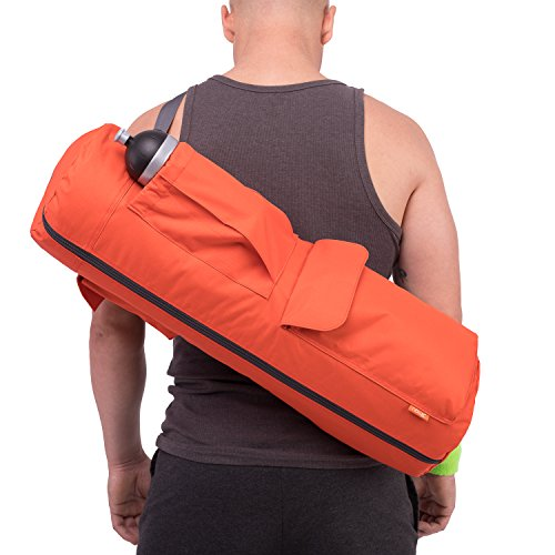 Yoga Mat Bag by NewK Yoga – Full Zip, Waterproof, Sling Bag with Expandable Pockets – Fits All...